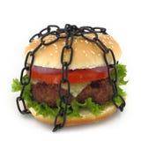 sammankoppling hamburgare royaltyfri bild