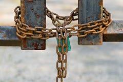 sammankopplintt låst Royaltyfria Bilder