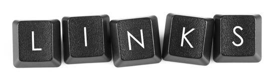 Sammanlänkningar - tangentbordknapp Fotografering för Bildbyråer