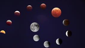Sammanlagd månförmörkelse Fotografering för Bildbyråer