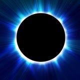 Sammanlagd sol- förmörkelse stock illustrationer