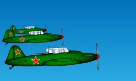 Sammanlänkning taktiska plana Ilyushin Il-2 Royaltyfri Fotografi