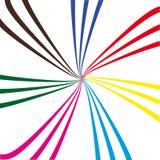 Sammansättning av abstrakt begrepp färgar fodrar. Vektorillustration Royaltyfri Illustrationer