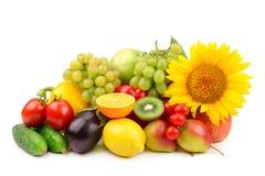 Sammansättning av frukter och grönsaker royaltyfri fotografi