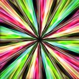 Sammansättning av gul och röd flyttningen den gräsplan, från mitt vinkar vektor illustrationer