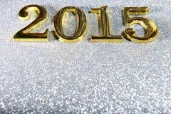 sammansättning av guld- nummer 2015 år Royaltyfri Fotografi