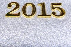 sammansättning av guld- nummer 2015 år Arkivfoto