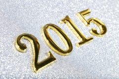 sammansättning av guld- nummer 2015 år Arkivfoton