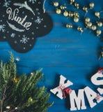 Sammansättning av julobjekt Royaltyfria Bilder