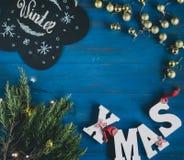 Sammansättning av julobjekt Royaltyfri Bild