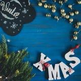 Sammansättning av julobjekt Arkivfoto