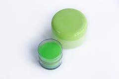 Sammansättning av kosmetiska omsorgflaskor Royaltyfria Foton