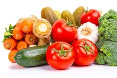 Sammansättning av nya grönsaker Arkivfoto