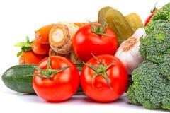 Sammansättning av nya grönsaker Arkivbild