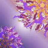 Sammansättning av runda prydnader för fantasi - flödande rosetter stock illustrationer