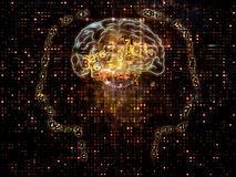 Virtualization av medvetenheten royaltyfri illustrationer