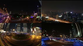 Sammansättning av stadsljus stock video
