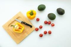 Sammansättning av sunda grönsaker fotografering för bildbyråer