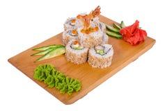 Sammansättning av sushi (räka) Fotografering för Bildbyråer