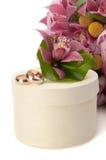 sammansättning blommar petalscirklar som gifta sig white Royaltyfri Foto