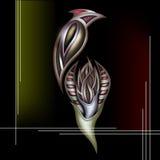 Sammansättning - fågel på en blomma Royaltyfria Bilder