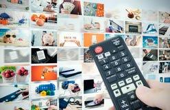 Sammansättning för abstrakt begrepp för televisionTV-sändningmultimedia Royaltyfria Foton