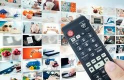 Sammansättning för abstrakt begrepp för televisionTV-sändningmultimedia Royaltyfria Bilder