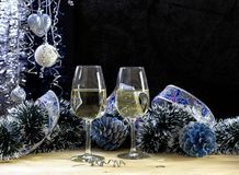 Sammansättning för `en s för jul och för nytt år Arkivfoton
