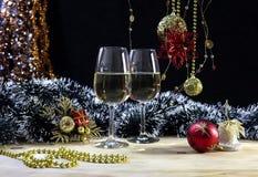 Sammansättning för `en s för jul och för nytt år Arkivfoto