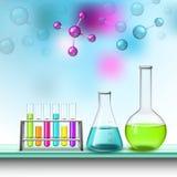 Sammansättning för färgrör och molekyl vektor illustrationer