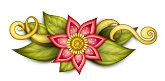 Sammansättning för härligt abstrakt begrepp för vektor kulör blom- stock illustrationer