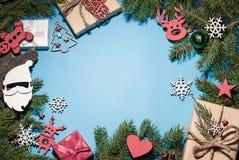 Sammansättning för jul och för nytt år royaltyfria foton