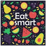 Sammansättning för nya frukter och grönsak sund livsstil för begrepp arkivbilder