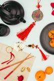 Sammansättning för nytt år för traditionell kines arkivfoto