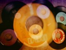 Sammansättning för samling för tappning för DISKON för vinylrekord fotografering för bildbyråer