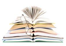 Sammansättning med bunten av isolerade böcker Royaltyfria Bilder