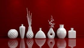 Sammansättning med dekorativ krukmakeri Arkivfoto