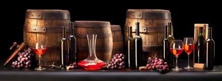 sammansättning med rött vin Royaltyfri Bild