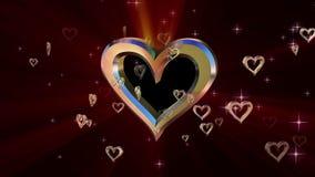 Sammansättning med roterande hjärta stock video
