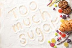 Sammansättning med sötsaker arkivbilder