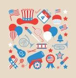 Sammansättning med USA symbolet Arkivbild