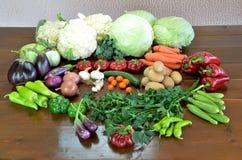 Sammansättning med variationsgrönsaker Royaltyfri Fotografi