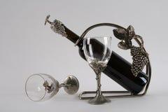 Sammansättning med vinexponeringsglas Royaltyfria Bilder