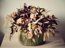 sammansättning torkade blommor Royaltyfri Foto
