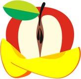 Sammansättningen av frukter, äpplet och mango Royaltyfria Bilder