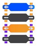 Sammansättningen av longboarden Arkivfoton
