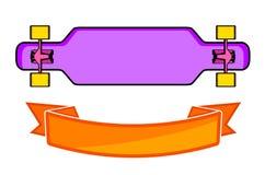 Sammansättningen av longboarden Royaltyfri Fotografi