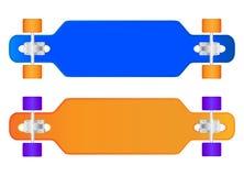 Sammansättningen av longboarden Royaltyfri Foto