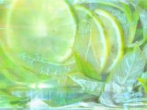 Sammansättningsmohitococtail Kall ny lemonaddrink royaltyfri foto