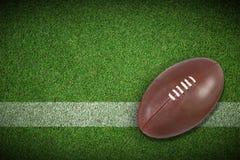 Sammansatt bild av amerikansk fotboll Arkivbilder